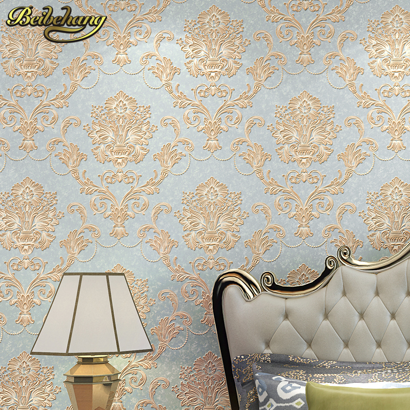 beibehang 3D Solid stripes wall papers background brief flocking embossed wallpaper roll tapete papel de parede for Living room