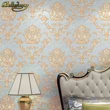 цена на 3D Solid stripes wall papers background wall brief flocking embossed wallpaper roll tapete papel de parede for Living room