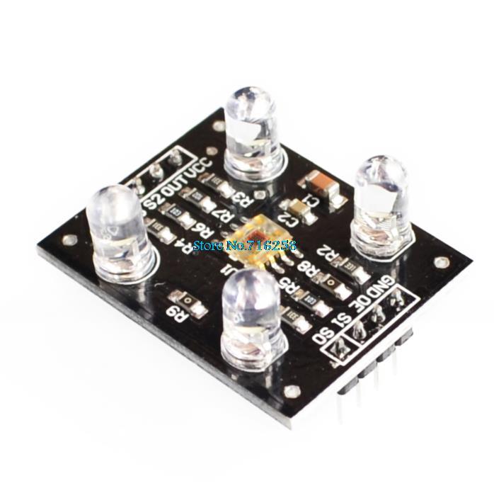 10pcs/lot TCS230 TCS3200 Module Color Recognition Sensor Detector Color Sensor DC 3~5V Input for MCU
