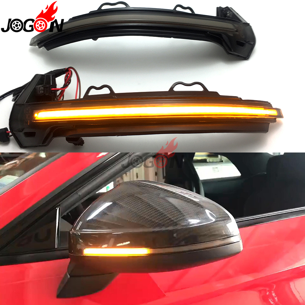 For Audi A4 S4 RS4 B9 2016-2019 A5 S5 RS5 Dynamic Turn Signal LED Light Side Wing Rearview Mirror Indicator Sequential Blinker