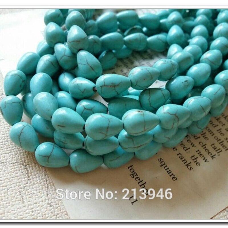 9e6891fea18b 8 12mm 66 unids pack lágrima azul natural piedra semipreciosa grano flojo  strands joyería Cuentas resultados y accesorios