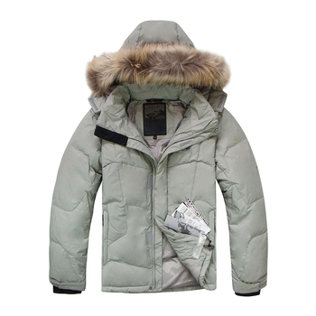 2020 New Men Duck Down Jacket Winter Warm Down Coat Raccoon Fur Waterproof Hooded Down Jackets Men Fashion Winter Coats цена 2017