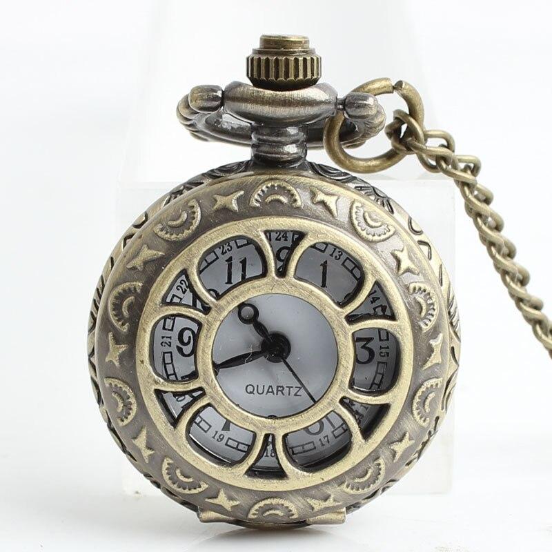 12 stks / partij Antiek Brons Zakhorloges FOB Horloges Mannen Vrouwen - Zakhorloge - Foto 4