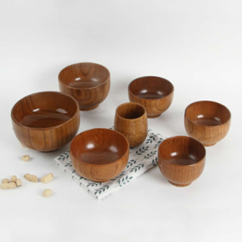 >Baby Bowl Wood Handmade Healthy <font><b>Food</b></font> Containers Dinner Dishes <font><b>Boy</b></font> Japanese <font><b>Style</b></font> Girl Tableware Bowl Natural Jujube Wood Bowl