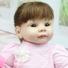 Reborn doll silicone 22 55cm Realistic Girl Silicone Vinyl Reborn Baby Doll cute gir Lifelike Handmade