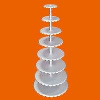 Of Precision Aluminum Alloy Single Column Round Cake Shelf 6 Layer 8 Inch 20 Inch
