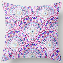 Creative design  purple  flowers pretty floral pattern men women ladies  square pillow case home  pillowcase stylish floral girl pattern square shape flax pillowcase without pillow inner