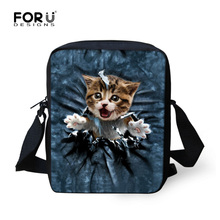 Cute Kids School Bag 3D Animal Pet Cat Printing Girls School