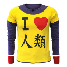 цены на Anime NO GAME NO LIFE  Cosplay Costumes I love human Short sleeve shirt Trend clothing  European size  в интернет-магазинах