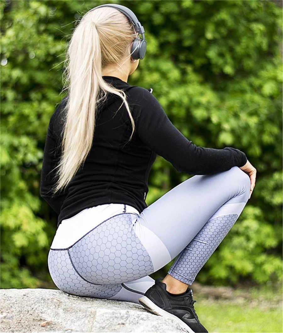 YICN Леггинсы для йоги спортивные Фитнес Ropa Deportiva Mujer гимнастические спортивные брюки Для женщин Высокая Талия тренажерный зал Акула раздавите Батт Леггинсы спортивные