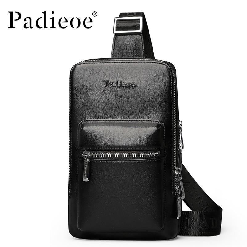 ФОТО Brand Padieoe 2017 New Men's Shoulder Bags Men Genuine Leather Messenger BagTravel Casual Designer Crossbody Bag Free Shipping