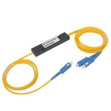 Бесплатная доставка 1310 нм двойное окно 50/50 соотношение SC/UPC ABS коробка тип 1x2 FBT соединитель 1*2 FBT Волоконно оптический сплиттер