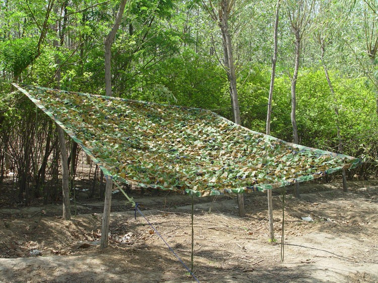 3 * 4m outdoor tarp Sun shelter high quality awning Camping & Hiking Military Camouflage Camo Netting for Hunting Camping