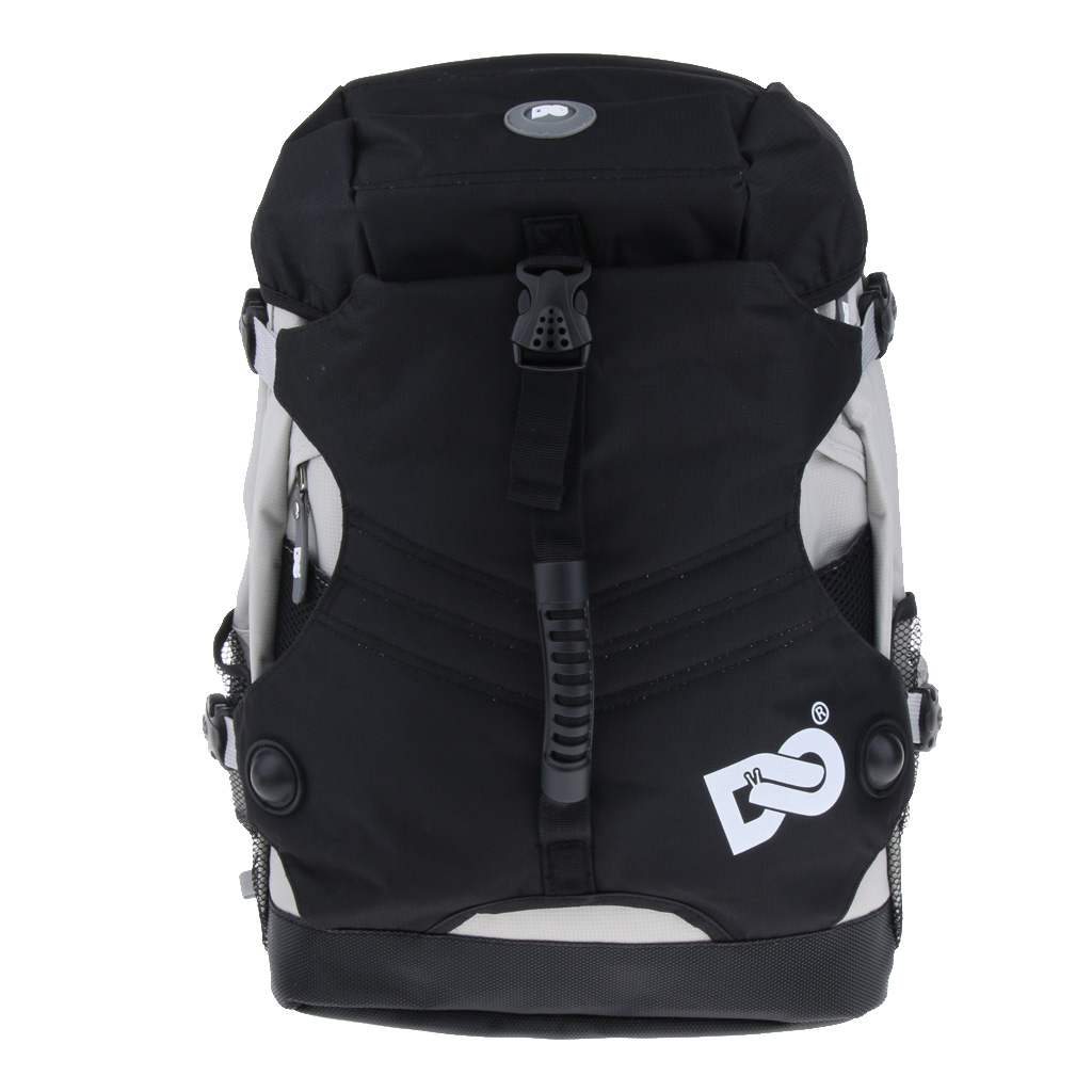 2Pcs Polyester Large Quad Skate Roller Skates Bag Backpack Skating Shoes Storage Pouch for Outdoor 17.7x12.6x7inch