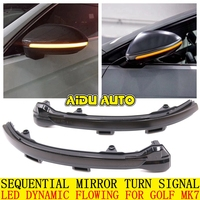 LED Flowing Rear View Dynamic Sequential MIRROR Turn Signal Light For VW Golf 7 MK7 VII