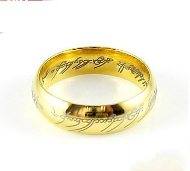 brand jewellery men women lotr 18k gold plated wedding band ring size 67 - Lotr Wedding Ring