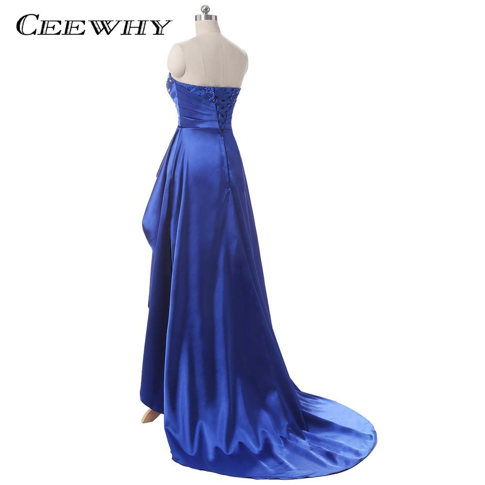 Satin Patchwork Asymmetriska Kvinnor Formella Kappor Crystal Long - Särskilda tillfällen klänningar - Foto 6