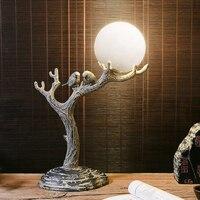 Современной Классической смолы птичка настольные лампы жизни лампы спальня исследование декоративного освещения личности Искусство прик
