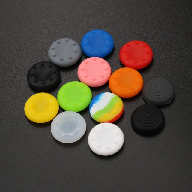 JCD For Xbox 360/ One Rubber Silicone Analog Grips Cover for Sony Dualshock 4 PS4 PS3 Controller Thumb Joystick Caps 1