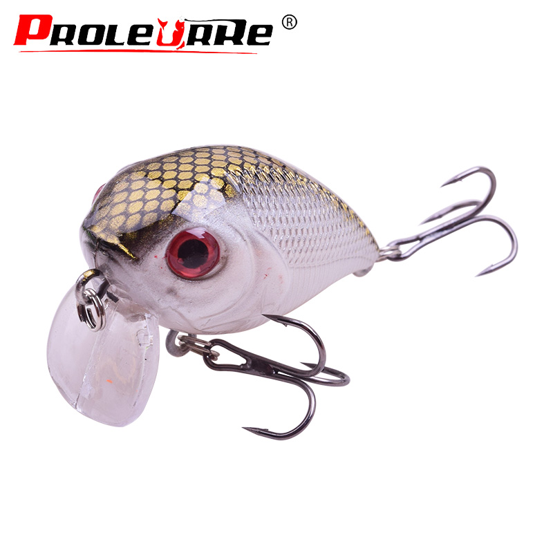 Proleurre Fishing Lures 50mm 7g Crank Lure Artificial Wobbler Bass Laser Fish Top Water Swim Bait Minnows Fishing Tackle PR-424