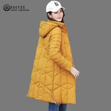 2019 Quilted Coat Long Parka Female Thick Cotton Slim Winter Jacket Women Clothes Hooded Warm Outwear Plus Size Korean Oke042(China)