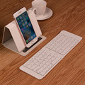 Portable Mini Wireless Foldable Bluetooth Keyboard Keypad for Mobile Phone Tablet Laptops with Free PU case Support