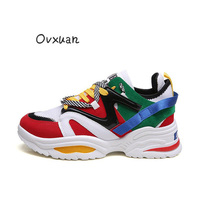 2019 Graffiti Leopard Print Ladies Platform Boots Triple S Sunway Trainers for Women Men Sneakers Dad Shoes Chunky Couple Shoes