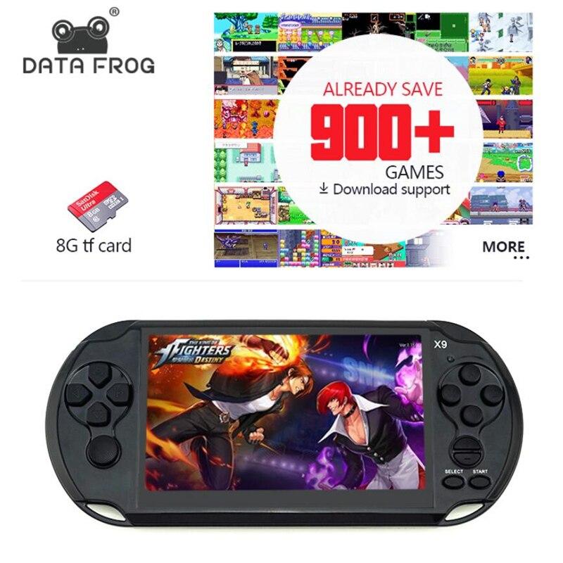 Données Grenouille De Poche Jeu Pour GBA Portable Jeux Consoles Intégré 3000 Jeux Classiques MP5 Enfant Jeu Console Avec 5.0