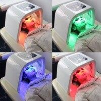 4 цвета уход за кожей лица устройство Приспособления для красоты Электрический подтяжка лица отбеливающий подъема фототерапии спектрометр