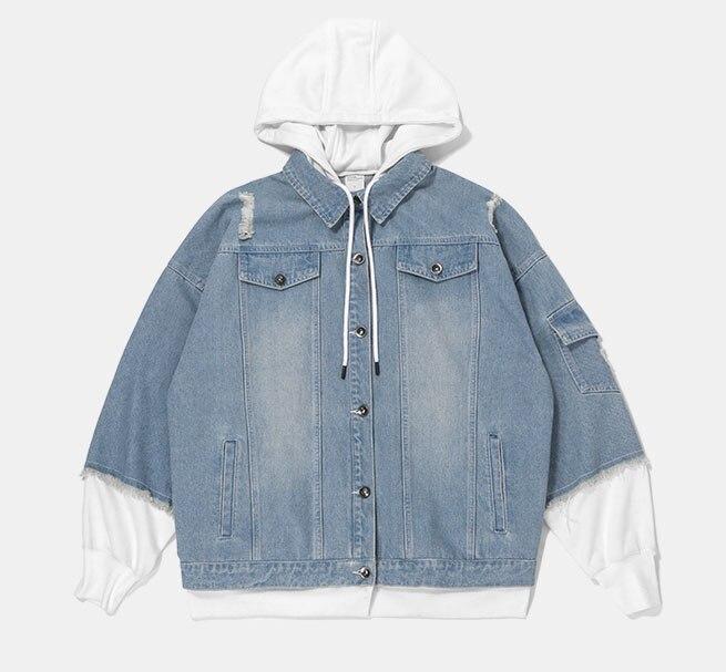 2018 Nouvelle Arrivée manteaux vestes hommes vêtements hip hop De Mode Qualité denim jean veste haute rue oversize Vintage style
