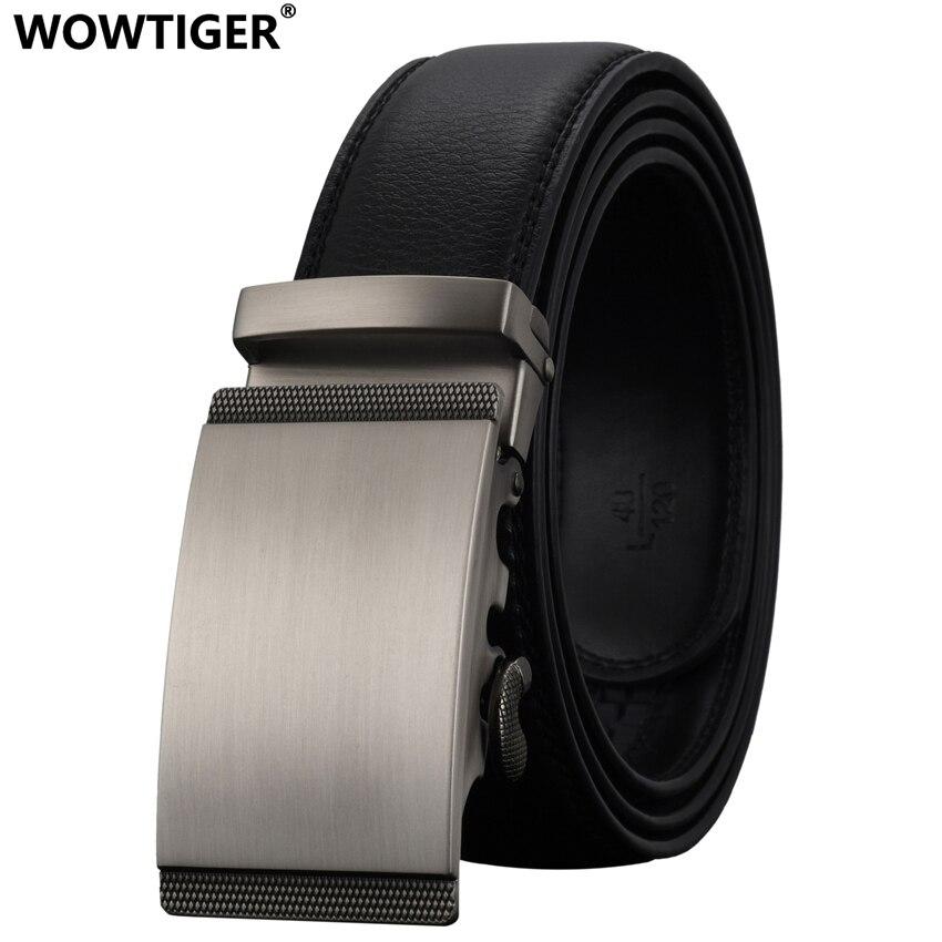 WOWTIGER Noir 35mm peau de Vache Ceinture En Cuir Pour Hommes de Haute  Qualité Mâle Marque 34e77a72099