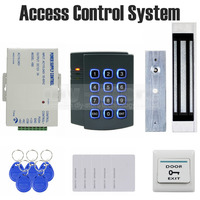 DIYSECUR 125KHz RFID Password Keypad Access Control System Kit + 180kg Magnetic Door Lock 2501
