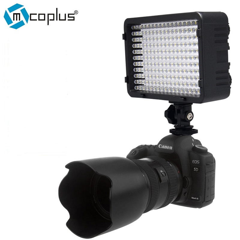 Mcoplus 260 LED Video Camer Light Photo Studio Lighting for Nikon Canon Sony Olympus Panasonic & DV Camcorder DSLR Camera штатив canon dv