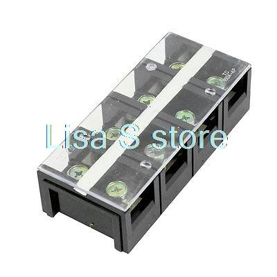 цена на 150A 600V 4 Position CleaCr overed Screw Terminal Barrier Block