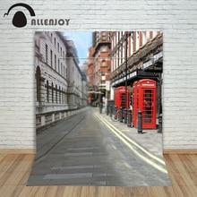 Allenjoy photographic background Street cabinet lights backdrops newborn christmas vinyl photocall 10x10ft