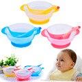 Colher pratos de aprendizagem da criança do bebê tigela de comida prato colher sensor de sucção cup ajudar crianças talheres tigela coberta