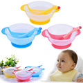 Toddler Baby Spoon Learning Dishes Suction Cup Assist Food Bowl Dish Sensing Spoon Children Tableware Covered Bowl