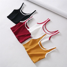 2018 Summer Sexy Women Crop Top Basic T-shirts Tank Top Solid Cotton Sleeveless Camisole Tops Women's Vest