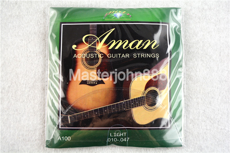 Aman A100 Acoustic Guitar Strings (010-047) Copper Alloy Wound&Stainless Steel Strings Free Shippng