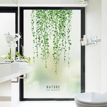 French Window Custom Sticker Gass Film Nordic leaves Paste Static Frosted opaque Stained Privacy Home Decor Decals