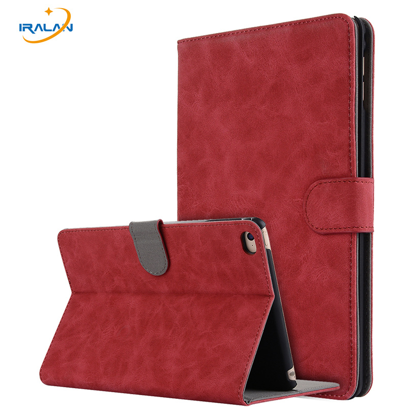 Fashion PU Retro leather Stand Case For Apple iPad Mini 4 tablet cover For iPad Mini 4 7.9 inch Wallet with card slot+screen+pen retro style cards slot wallet bag smart cover pu leather case for ipad mini 4 3 2 1 im426