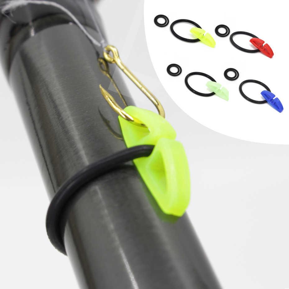 YINGTOUMAN crochet sécurisé gardiens supports leurres Jig crochets maintien sûr pour canne à pêche
