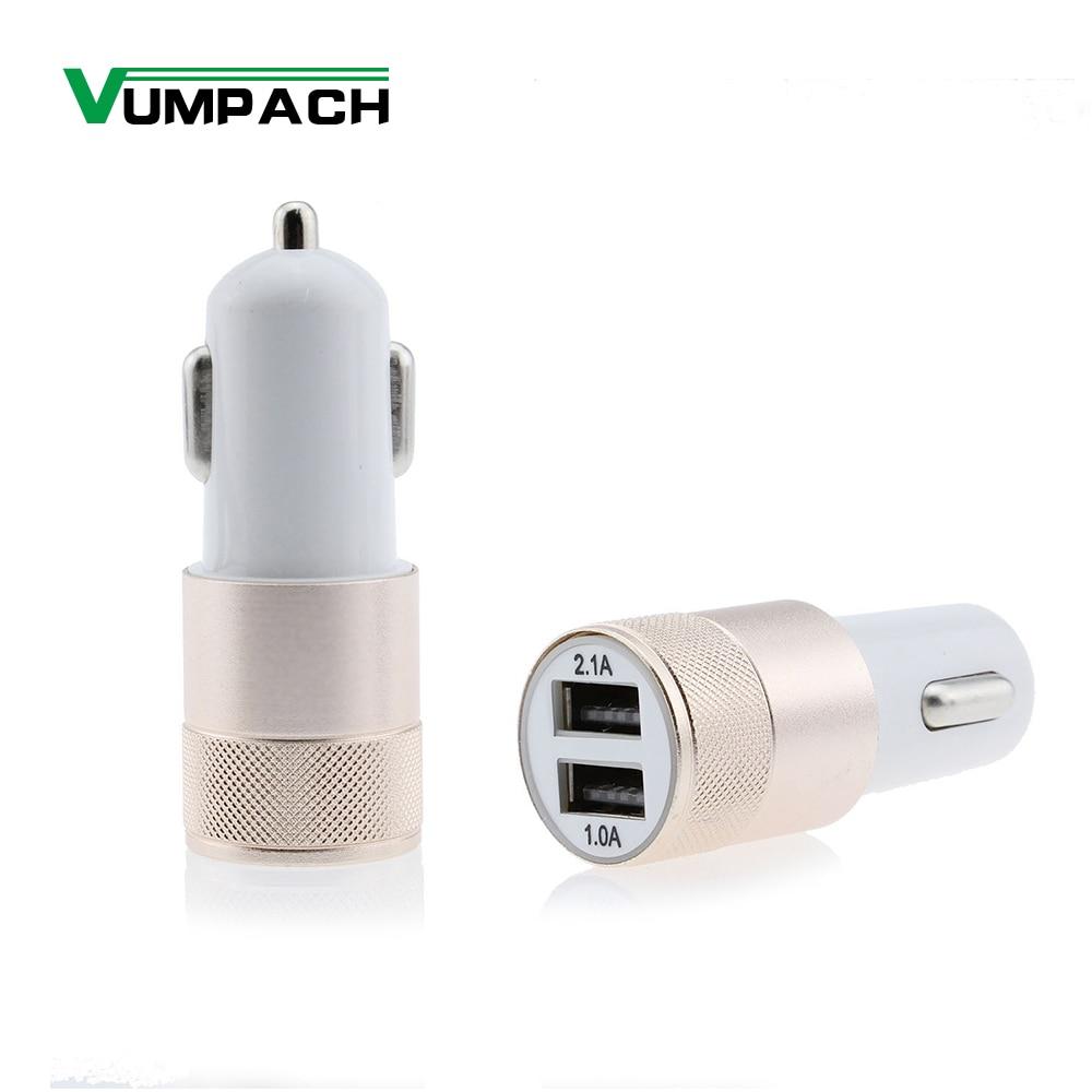Vumpac – Mini chargeur universel double USB pour voiture, adaptateur USB pour iphone 6 6s Plus 5 7, Samsung Xiaomi