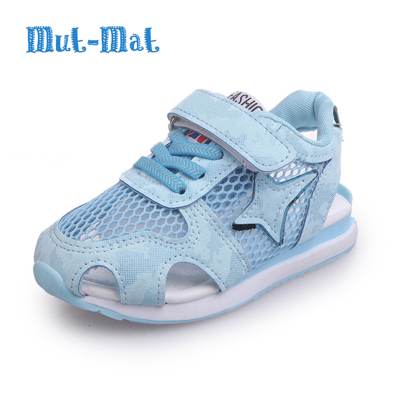 Children Toe Covering Sandals for Boys Fashion Natural Shoes Genuine Leather Soft Bottom Girls Casual Mesh Sports Beach Shoes