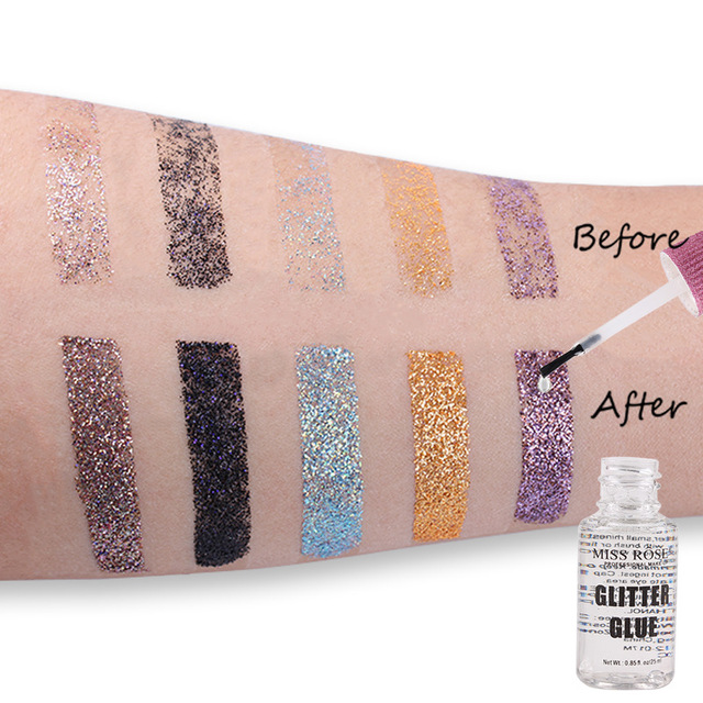 1 PC MISS ROSE 25ML Transparent Eye Shadow Powder Glue Eyes Face Makeup Shiny Glitter Eyeshadow Body Paint Glue 1