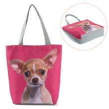 Сумки для женщин, женская сумка-тоут, Холщовая Сумка, милая сумка с принтом кошки, собаки, дизайнерские пляжные повседневные сумки на плечо, горячая распродажа