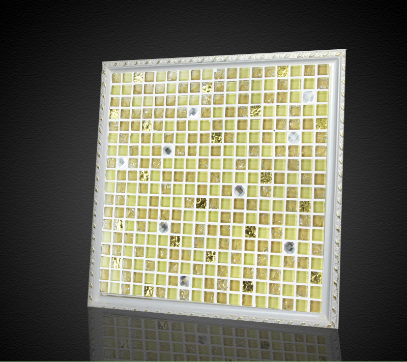 beige color glass mixed stone and diamond mosaic tiles for bathroom ...