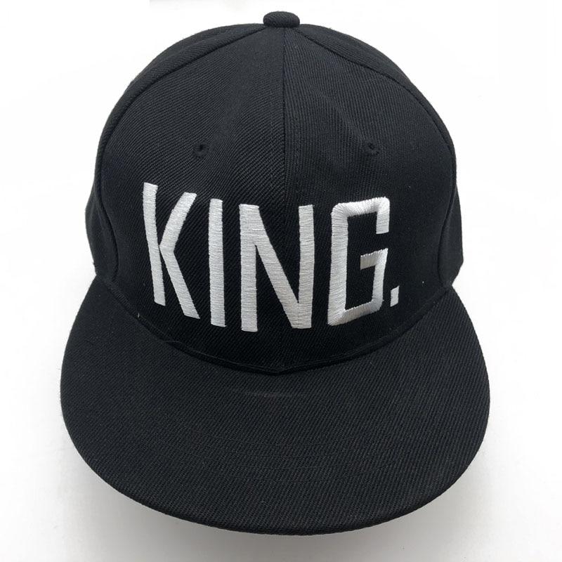 1PC KING QUEEN Embroidered Snapback Caps Lover Men Women Baseball Cap Black Hip Hop Cap Snapback hats,chapeau bone masculino