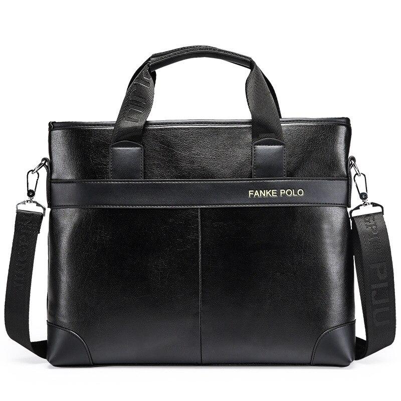 Business Briefcase Leather Handbags Office Bags For Mens Messenger Bag Vintage Men Shoulder Bag Hig End Laptop Bag Briefcases