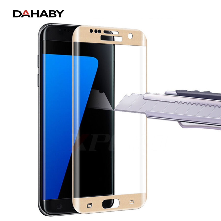 DAHABY For Samsung S 6 Edge S6/S7 Edge Plus Full Cover Tempered Glass Screen Protector Film For Galaxy S6 Edge Multi-Color